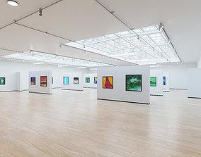 Art Museum Gallery Interior 4b 3D asset