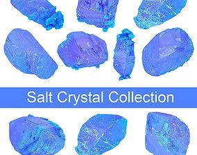 3D model Blue Salt Crystal Collection 5 items
