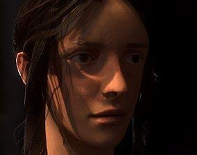 3D asset realtime Realistic Medieval Woman