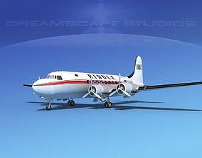 Douglas DC-4 Riddle Airlines 3D model