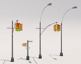 3D model Traffic Light NYC
