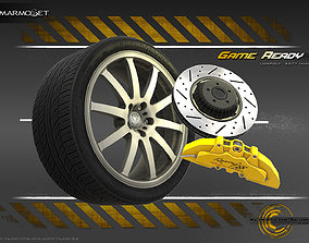 3D model Sport Car Wheel Lowpoly