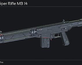 3D model Scifi Sniper Rifle MB 14