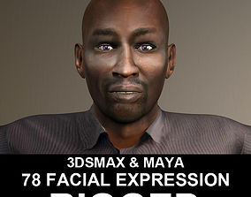 Rigged Young African Man 3D asset