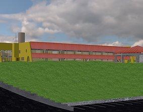 College Building 3D model