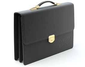 3D Leather Briefcase