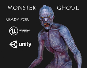Monster Ghoul 3D model animated