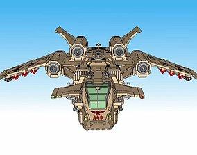 6mm and 8mm Birdstorm Superheavy Dropship 3D print model