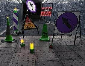 3D model Zombie Infestation Road Works