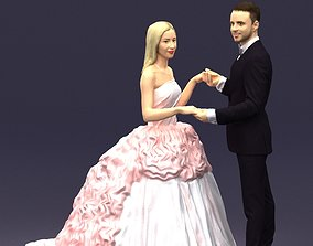 3D model Newly married couple 0419