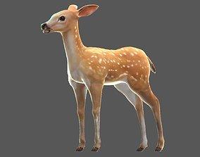 3D model Sika deer Elk Water deer