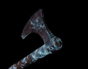 Norse Viking Frost Rune Axe 3D model