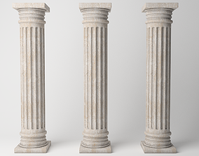 3D model low-poly Antique column
