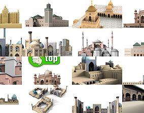 7x world famous mosques - 3D Building Models