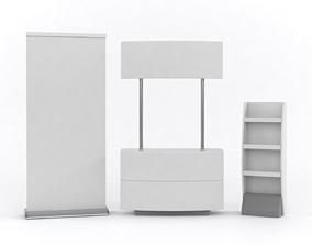 Portable Kiosk 3D model