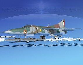 Mig 23 Flogger B V25 India 3D model