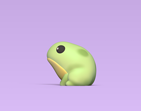 lake 3D printable model Cute Little Frog