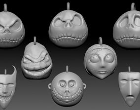 Nightmare Before Christmas tree themed 3D printable model
