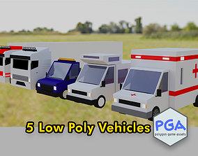 Low Poly Vehicles 3D model