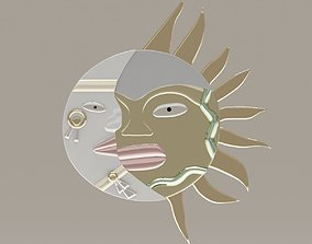 Sun Moon 3D model