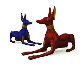 3D asset Egyptian Anubis Dog Sculpture
