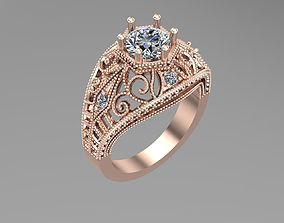 3D model Vintage gold ring NN187