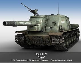 ISU-152 - 319 - Soviet heavy self-propelled gun 3D