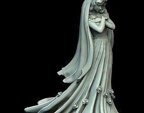 The Bride Wedding Dress Sculpture 3D printable model