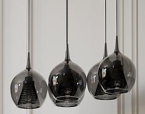 Zin LED 5 Light Linear Pendant By Elan Lighting 3D