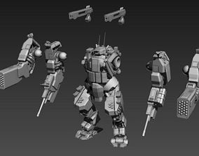 3D print model 28mm scale Assault Suit