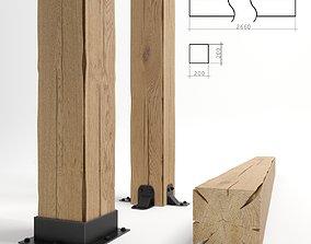 3D model cracked wood