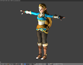 ZELDA - BREATH OF THE WILD - RIGGED - PBR 3D