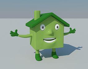 3D asset Cartoon House