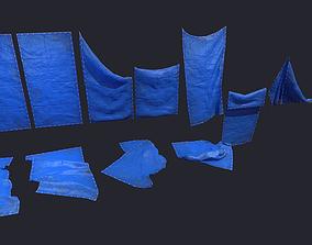 3D asset Plastic Tarp Set
