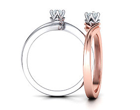 Paradise Solitaire Ring Four-Prong Setting 3mm Stone 1