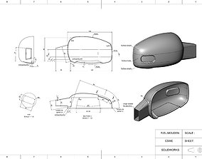 Side view mirror plastic cover 3D printable model