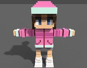 3D model Girl Voxel