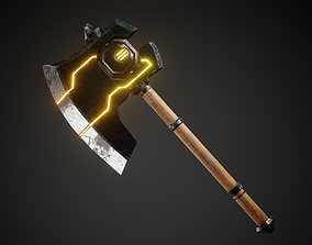 Battle Axe 3D model game-ready PBR