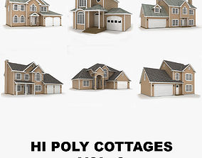 Hi-poly cottages collection vol 3 3D model