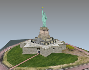 Statue of Liberty lowpoly model 3D asset realtime