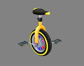 3D model Cartoon unicycle