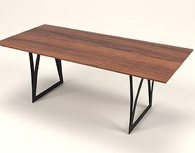 Irene wood table 3D model
