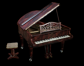 Grand piano 3D asset