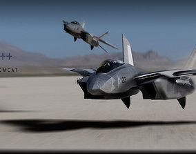 F-14 stealth concept 3D asset