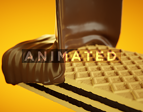 Wafer Chocolate 3D model