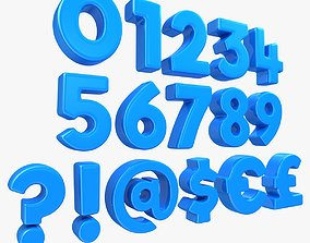 3D model Number and Symbol - Toon