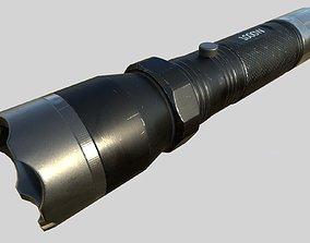 Taser Police FlashLight PBR 3D asset