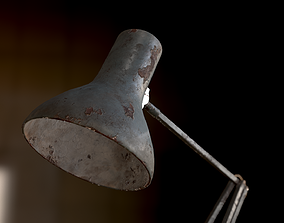 Dirty and rusty Soviet lamp or Old russian 3D model