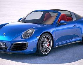 3D model Porsche 911 Targa 4s 2018