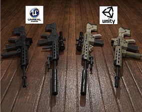 Semi-Automatic Sniper Package 3D asset